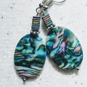 Jewelry - SALE💕 Handmade earrings with shell stones